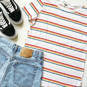 Pink Victoria's Secret Rainbow Striped Top